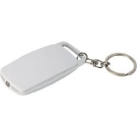 Clicker Keyring Torch White/Silver